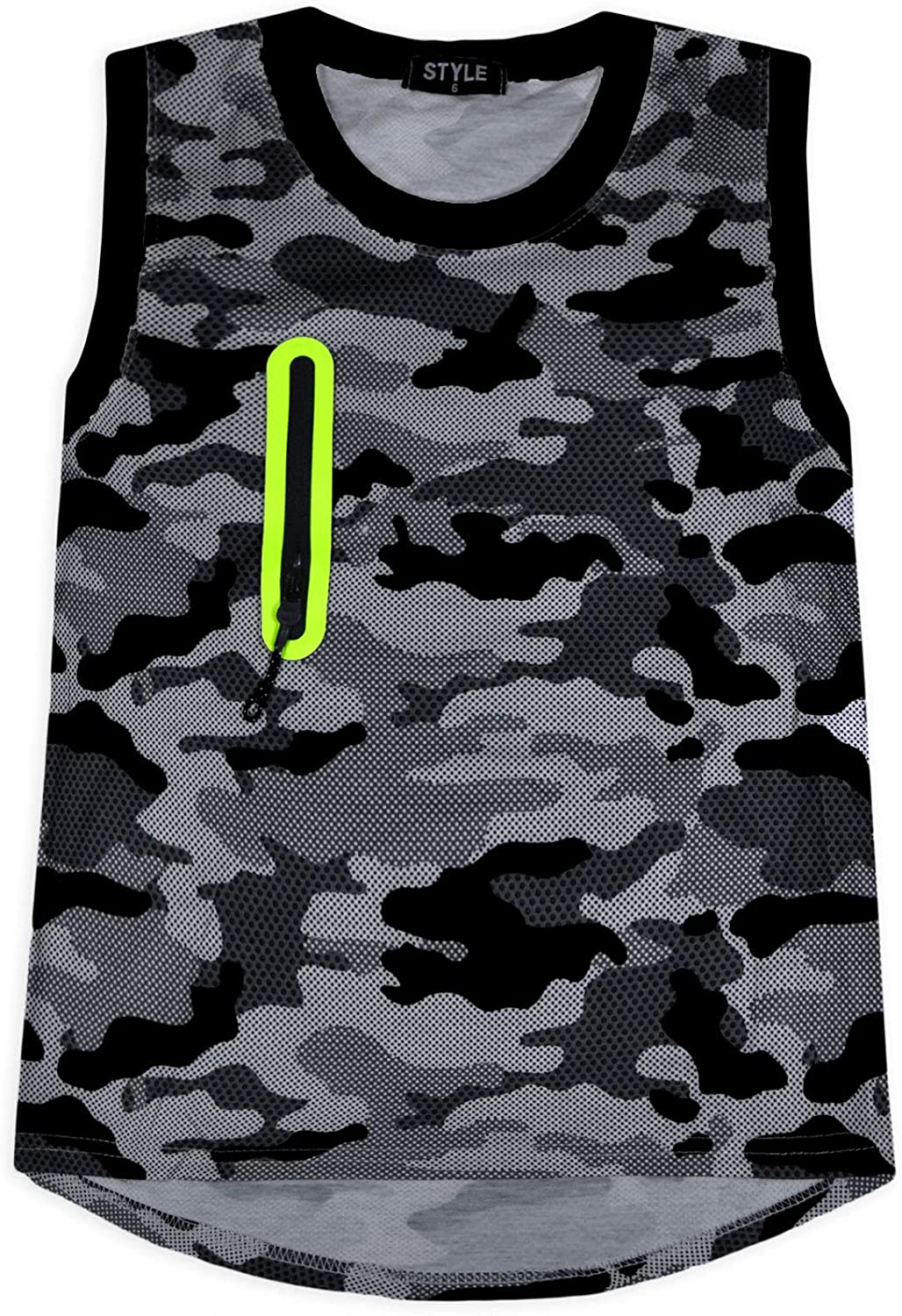 JollyRascals Boys Camo Set Kids Vest Top and Shorts Set New Camouflage Outfit Age 4-14 Years