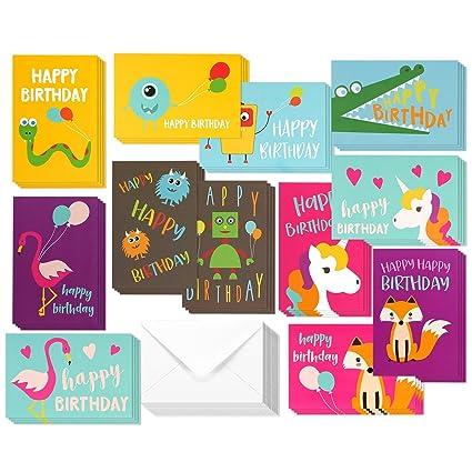 Amazon Birthday Cards Box Set 144 Pack Happy
