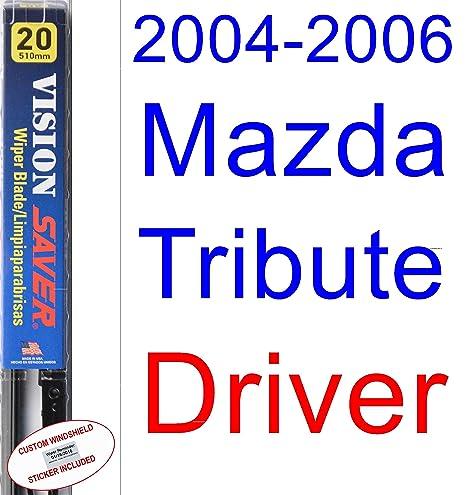 Amazon.com: 2004-2006 Mazda Tribute Wiper Blade (Driver) (Saver Automotive Products-Vision Saver) (2005): Automotive