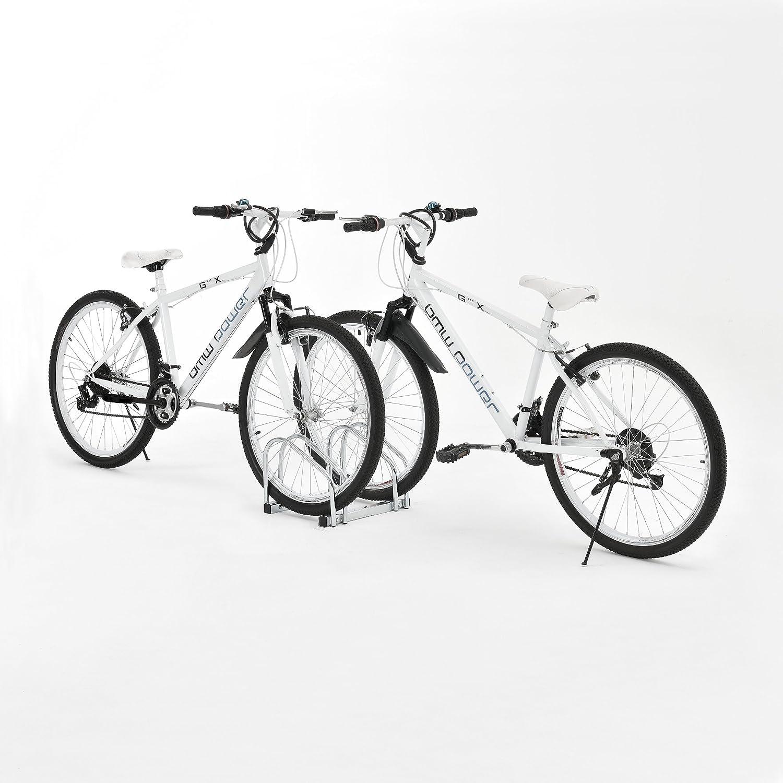 - Para sujecci/ón en suelo neu.haus Soporte para bicicletas - Espacio para 2 bicicletas