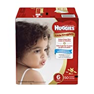 Huggies Little Snugglers Baby Diapers, Size 6, 50 Count, GIGA JR Pack (Packaging May Vary)