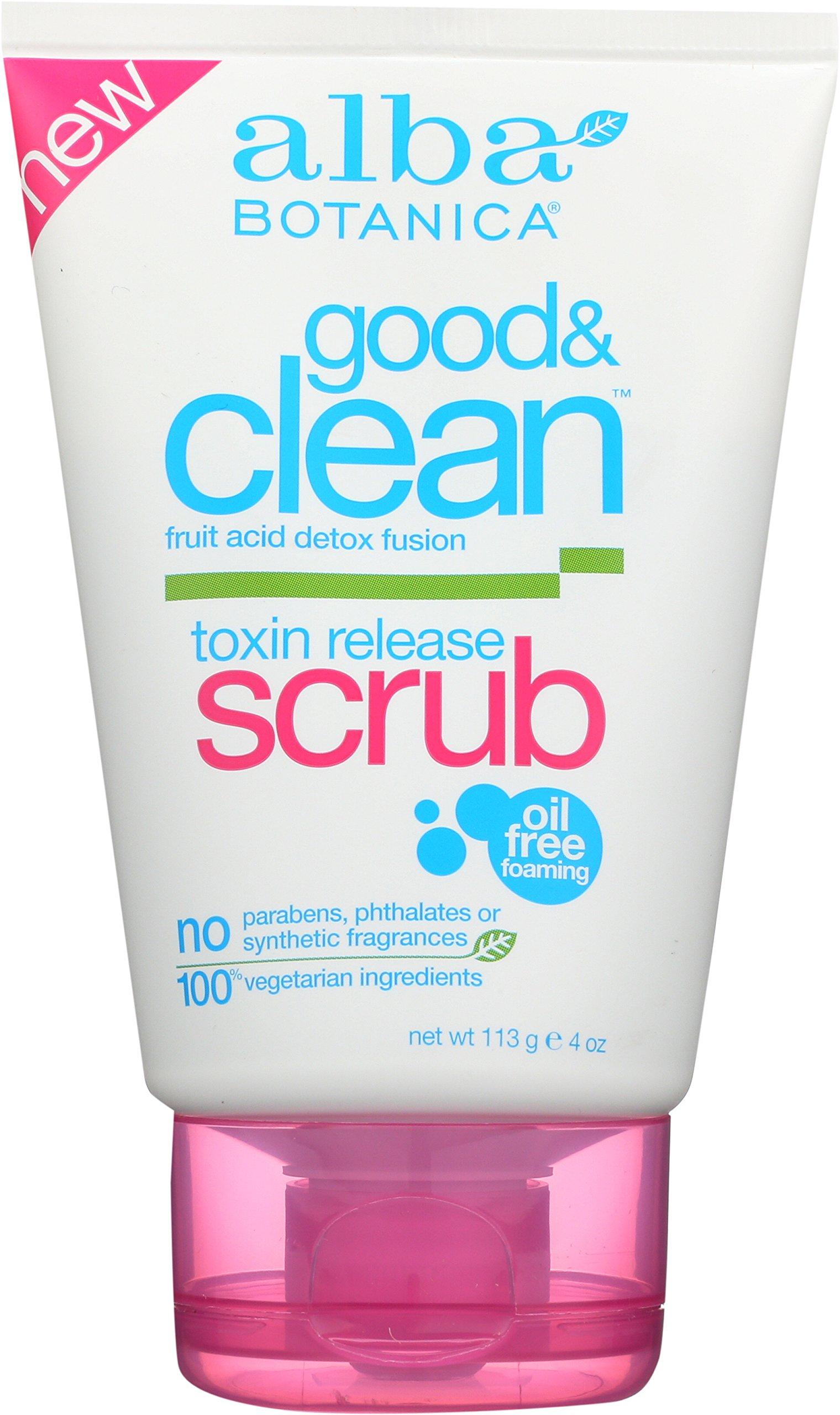 Alba Botanica Good and Clean Toxin Release Scrub, 4 Ounce