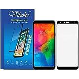 LG Q7,LG Q7 Ultra Hd Edge to Edge 5D Series Tempered Glass by Vikeko (Black)