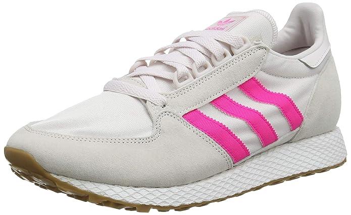 adidas Forest Grove Damen Schuhe weiß mit rosa Streifen (White Orchid Tint/Shock Pink)