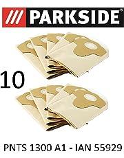 10Sacs d'aspirateur Parkside PNTS 1300A120L Lidl Ian 55929Marron 906–05–Parkside Aspirateur sec humide