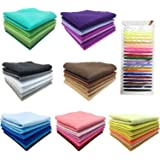"""Misscrafts 42pcs 8""""X8"""" 1.5mm Thick Soft Felt Nonwoven Fabric Sheet Pack DIY Craft Patchwork Sewing Square Assorted Colors with Thread Bag"""
