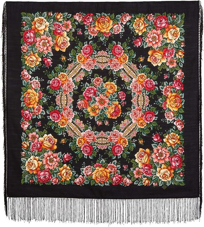 Pawlow Posad russischer Schal-Tuch Folklore Tradition 89x89 Wolle 1825-18