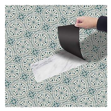 DMMASH Grünes Muster-Boden-Aufkleber-Badezimmer-PVC-Boden ...