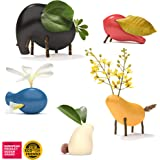 Taksa Toys Locomo Family Multicolored Edition I (Set of 5) - Wooden Animal Figures Open-Ended Educational Outdoor Play…