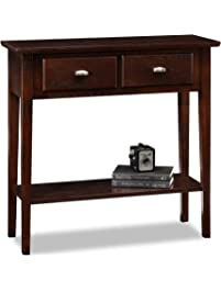 leick furniture hall consolesofa table chocolate oak