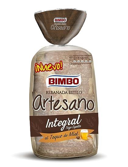 Bimbo Rebanada estilo Artesano, pan integral con corteza, 550 gr 14 rebanadas
