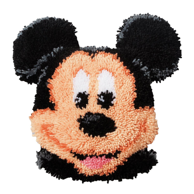 Vervaco Formkissen Mickey Mouse Knüpfpackung zum Selbstknüpfen eines Kissens, Stramin, weiß 37 x 36 x 0,3 cm B0063G6AOK Zierkissen