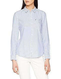 Tommy Hilfiger Regular Stripe Shirt Blusa, Azul (Serenity/Bright White 903), L para Mujer: Amazon.es: Ropa y accesorios