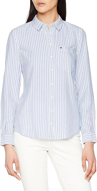 Tommy Hilfiger Regular Stripe Shirt Blusa para Mujer