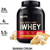 Optimum Nutrition Gold Standard 100% Whey Protein Isolate Powder, Banana Cream, 5 Lb (2.27 Kg)