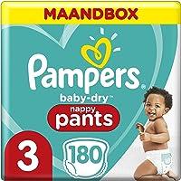 Pampers Baby-Dry Pants Maat 3, 6kg-11kg, 180 Luierbroekjes, Eenvoudig En Leuk Verschonen Overdag En Bescherming 's…