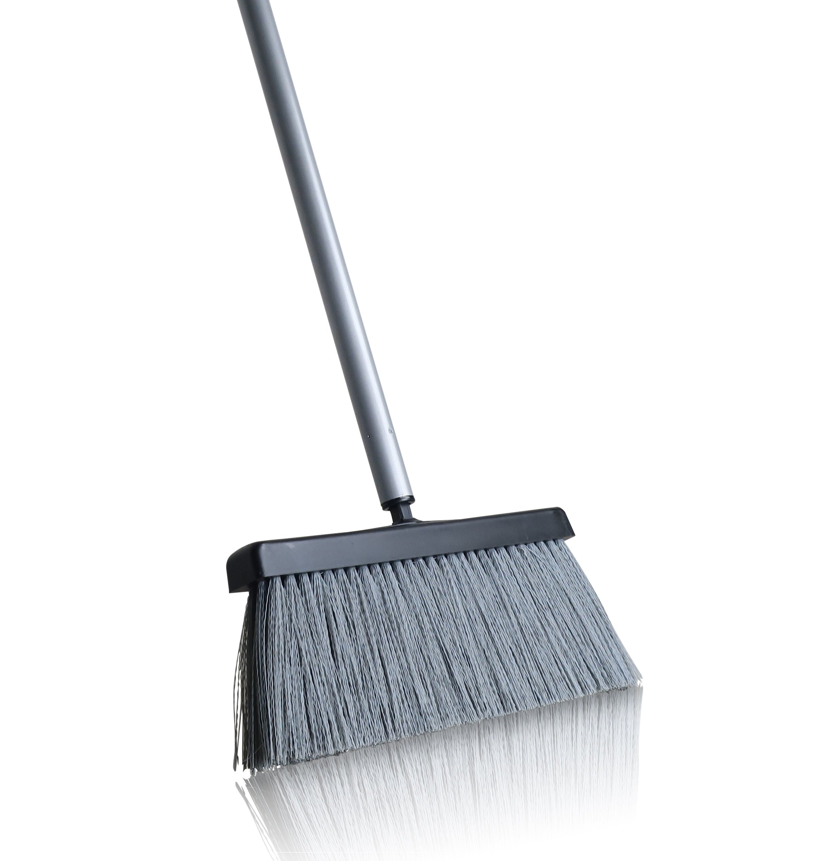 "Fuller Brush Deep Reach Black Slender Complete Broom – 11"" Sweeping Path - Gathers Large Debris & Fine Particles – Low Profile for Easy Reach - 48'' Steel Handle"