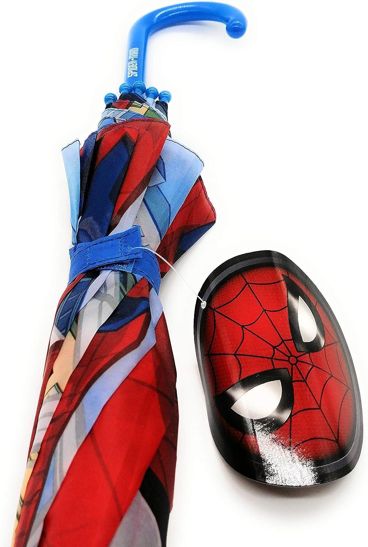 Paraguas Spiderman Superhéroes para niño Cortavientos Azul y Rojo ...