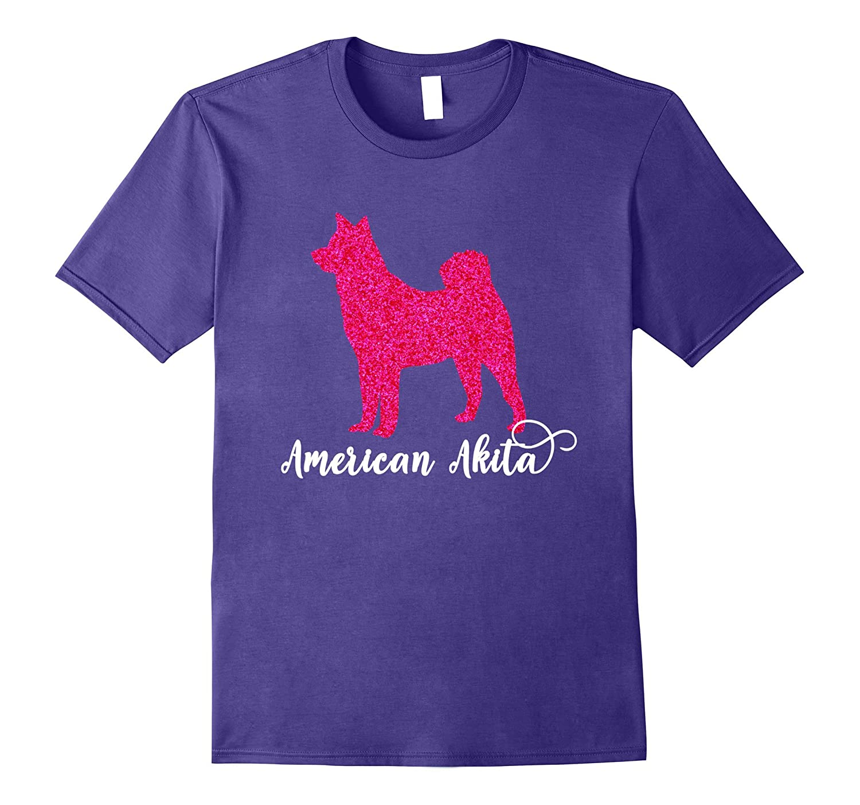 American Akita Pink Silhouette T Shirt-AZP