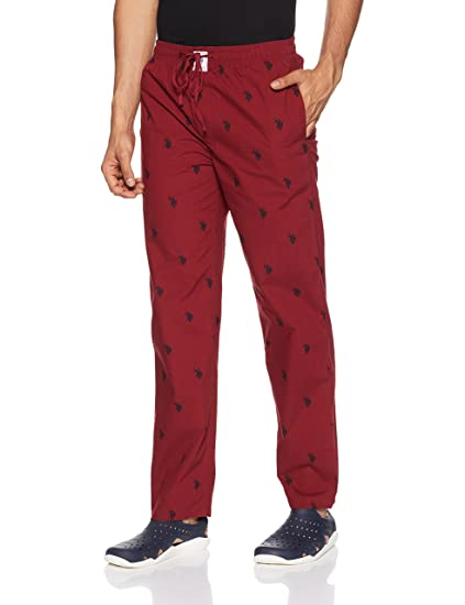 US Polo Association Men's Cotton Lounge Bottom Men's Pyjamas & Lounge Pants at amazon