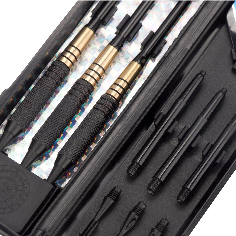 Amazon.com : L.e.d Step 18 Grams Brass Barrels Soft Tip Darts Set Cupronickel Barrels with Aluminum Shafts Flights, Professional Metal Dart Tips Set +3 Free ...