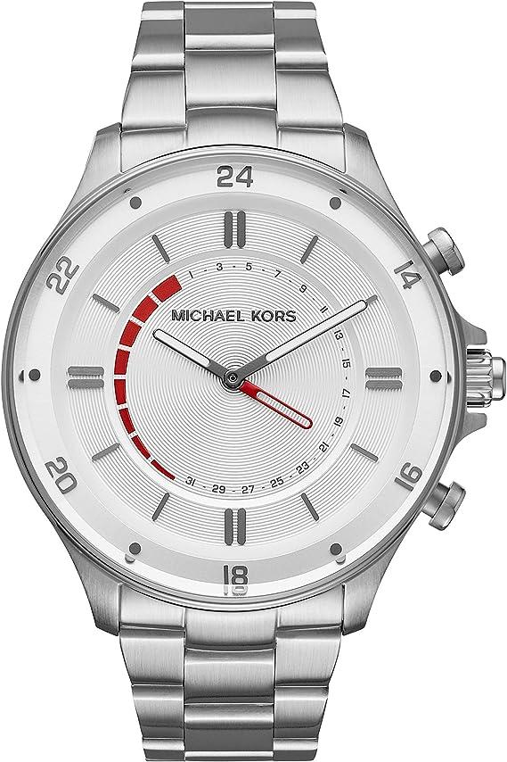 Amazon.com: Michael Kors Silvertone Reid Reloj híbrido para ...