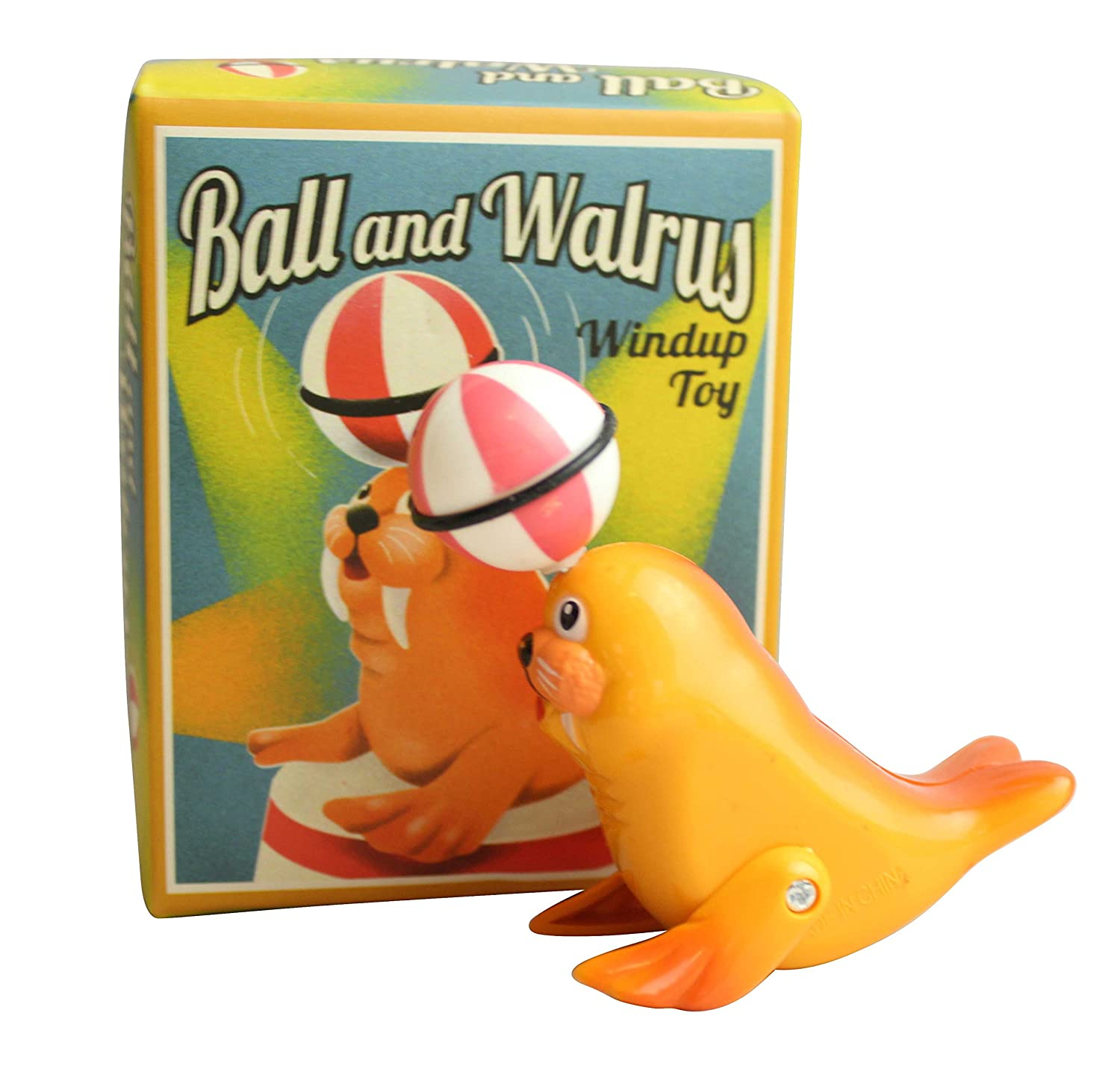 Ball & Walrus Windup Retro Toy Classic Game Circus Entertainer House of Marbles by House of Marbles B00I2T7Q5S