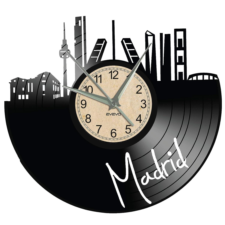 EVEVO Madrid Reloj de Pared RGB LED Pilot Reloj de Pared de ...