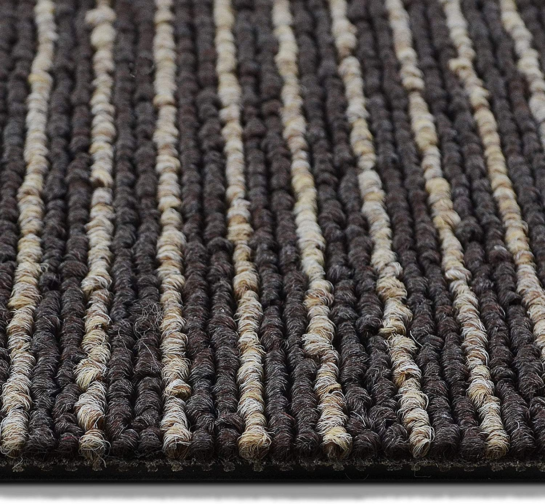Design Teppichfliesen Bohemia 50x50 cm selbstliegend Anthrazit-grau, 1 St/ück strapazierf/ähiger Teppich Bodenbelag mit hochwertigem Schlingenflor antistatisch mit Bitumen R/ücken