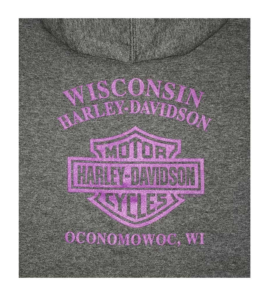 Harley-Davidson Little Girl's Rattling The Bones Full-Zip Fleece Hoodie (5) by Harley-Davidson (Image #2)