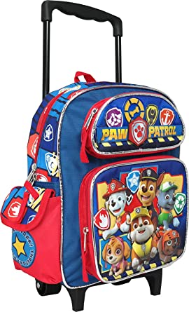 Paw Patrol Marshall Chase Rubble 12 inches Toddler Mini Rolling Backpack