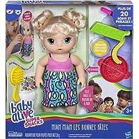 Baby Alive - Miam Miam Les Bonnes Pates - Poupee Cheveux Blonds - C0963