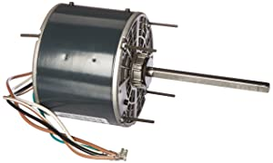 Marathon X412 48Y Frame Totally Enclosed 48A11T569 Condenser Fan Motor 1/4 hp, 1075 RPM, 208-230 VAC, 1 Phase, 1 Speed, Ball Bearing, Permanent Split Capacitor, Thru-Bolt