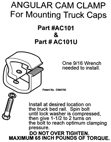Amazon Com Api Ac Mounting Clamps For Truck Caps Camper Shells  Pack Home Improvement