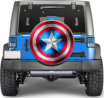 Amazon Com Captain America Sticker Full Color Spare Tire Cover