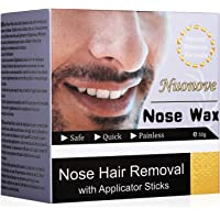 Nose Wax, Nasenwachs, Nasal Hair Removal, Nasenhaare Wachs, Nasenwachs Set für Männer und Frauen, Safe ✔ Quick ✔ and Painless, 50g (EINWEG)
