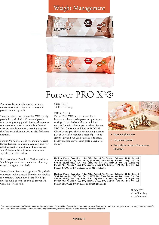 Forever Pro x2tm Cinnamon – HIGH proteína Bar cerrojo: Amazon ...