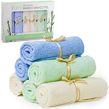 Perfect Baby Shower Gift or Registry Gift 6-Pack | Premium Extra Soft /& Absorbent 600GSM Baby Towels For Sensitive Skin Bamboo Baby Washcloths 100/% Bamboo Baby Reusable Wipes