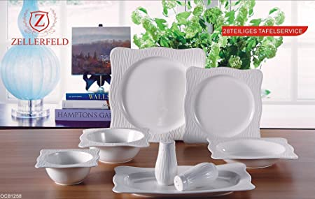 Premium 28 Piece Dinner Set Service For 6 People Porcelain Crockery