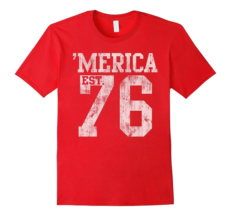 Vintage Patriotic Merica 1776 USA Shirt-Vaci