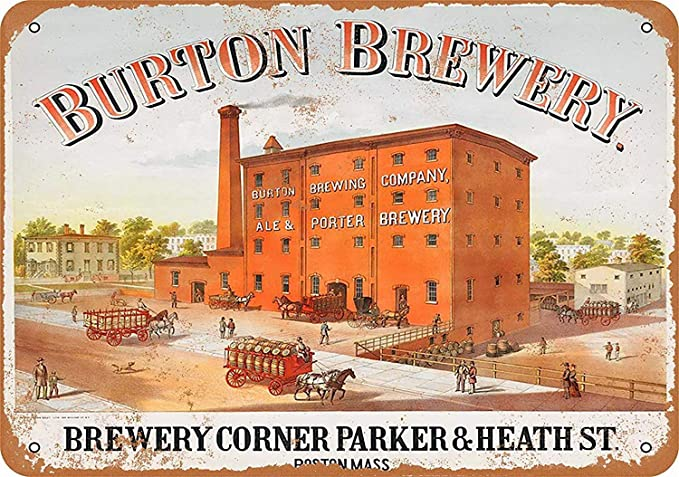 Shunry Burton Brewery Boston Placa Cartel Vintage Estaño ...