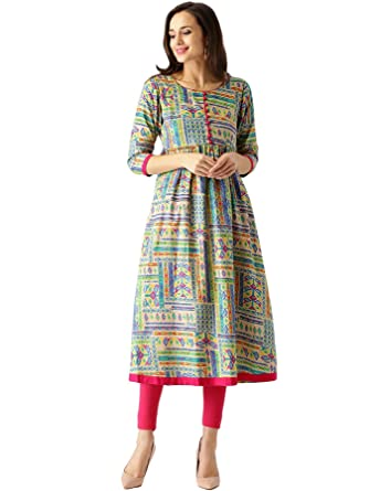 0e8fad461 Libas Women s Anarkali Cotton Kurta  Amazon.in  Clothing   Accessories