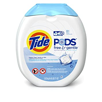 amazon com tide pods free and gentle laundry detergent pacs 81 load