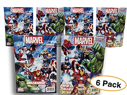 Amazon.com: Marvel Heroes Coloring & Activity books (6 Packs ...