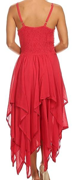Sakkas Lady Mary Jacquard corsé estilo corpiño ligero pañuelo Hem vestido: Amazon.es: Ropa y accesorios