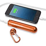 Veho VPP-004-PO 3000 mAh Pebble Smartstick+ Emergency Powerbank for Smartphones- iPhone, Android and other USB powered Portable Devices- Orange