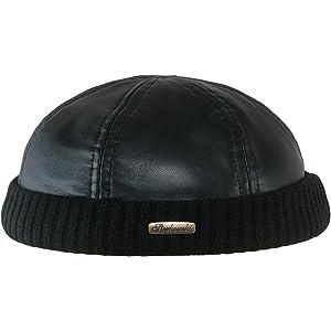 f3efa3b699e sujii Leon MST Skull Cuff Beanie Hat Watch Cap Docker Hat Black ...