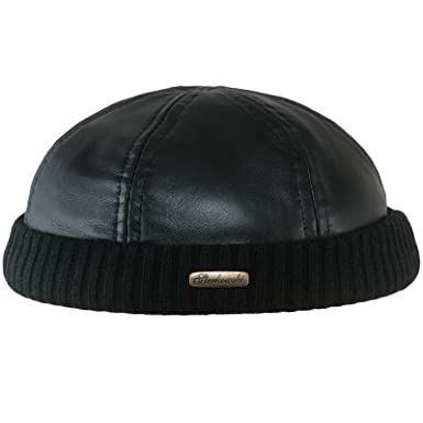 Sterkowski Docker Leon Beanie Leather Cap at Amazon Men s Clothing ... a3c9c933aac