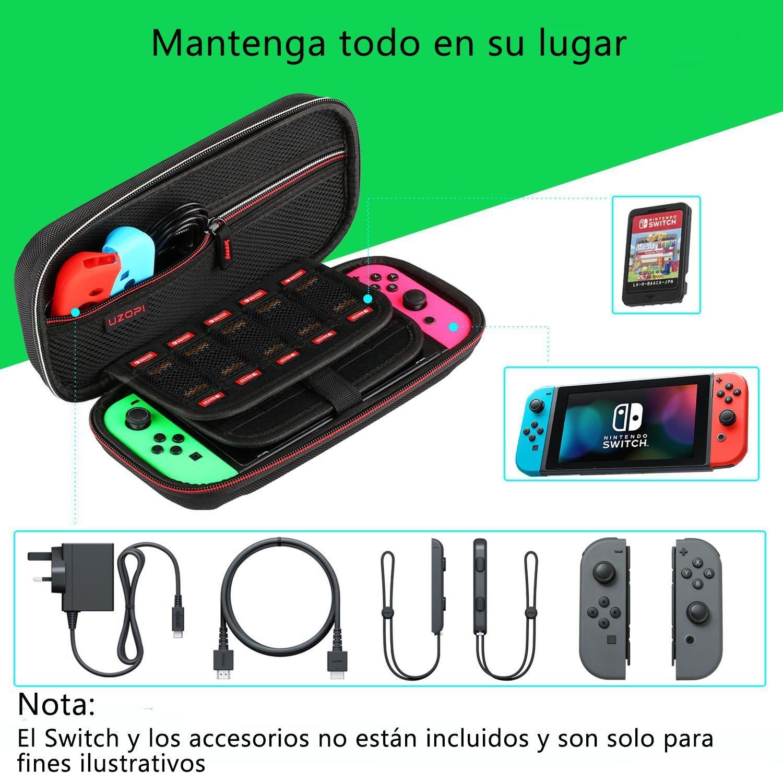 Funda para Nintendo Switch, VOOKI Estuche Portátil Transporte/Viaje Protection Apto para Nintendo Switch, Accesorios Oficiales 20 Bolsillos Pequeños