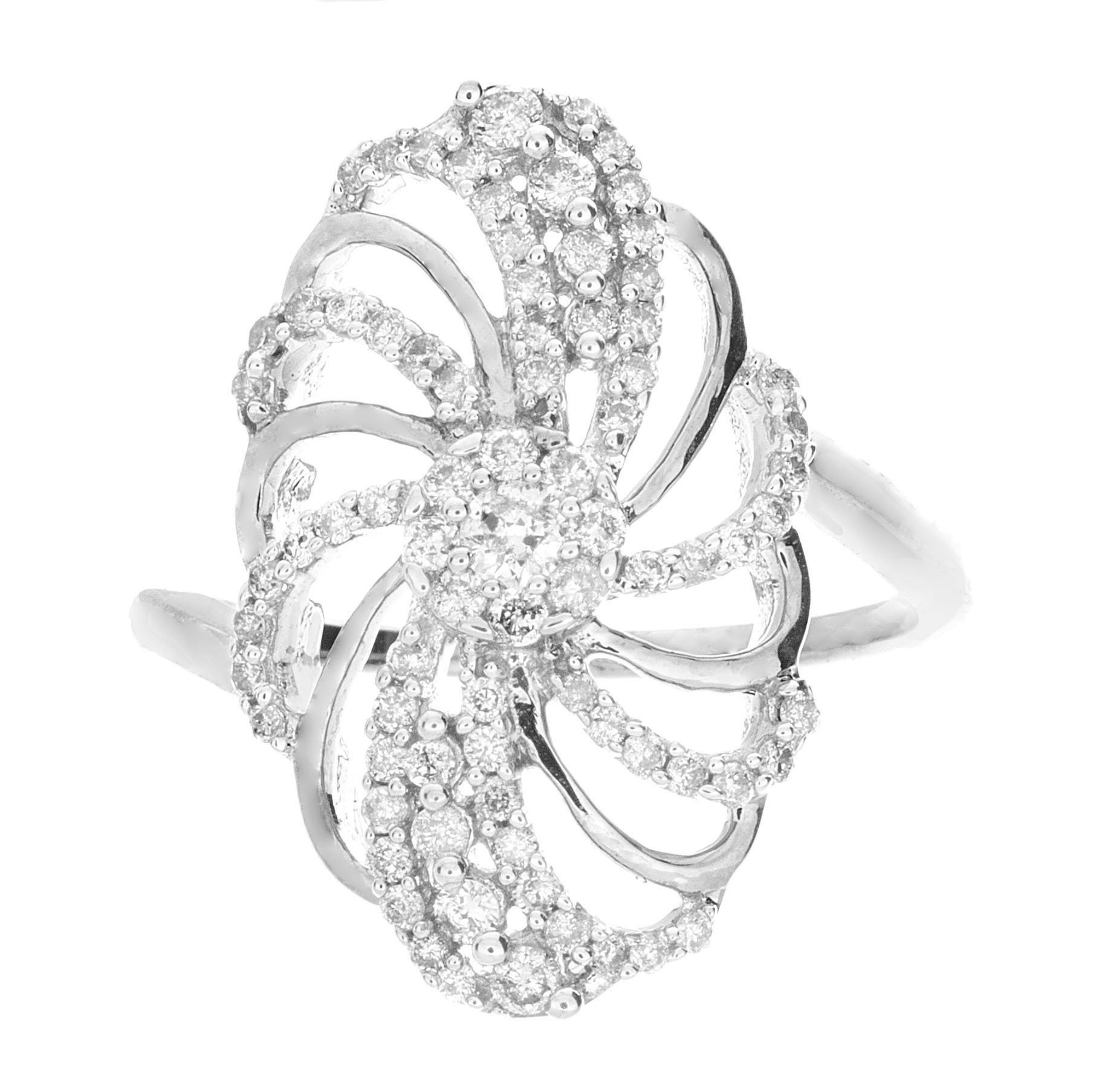 0.55ctw Round Diamond (H-1 color, i1-i2 Clarity) in 14K Gold Fashion Ring
